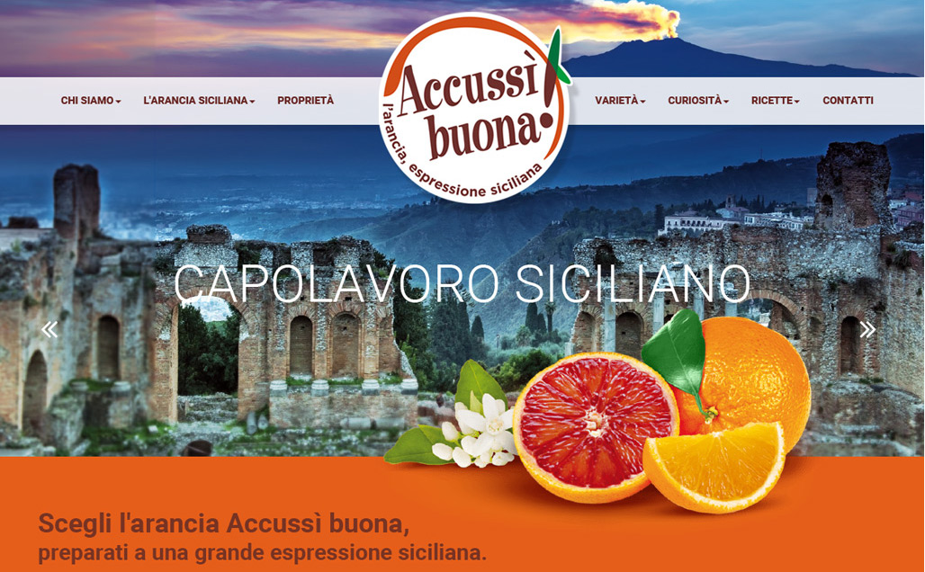Accussì buona, the quality orange brand.