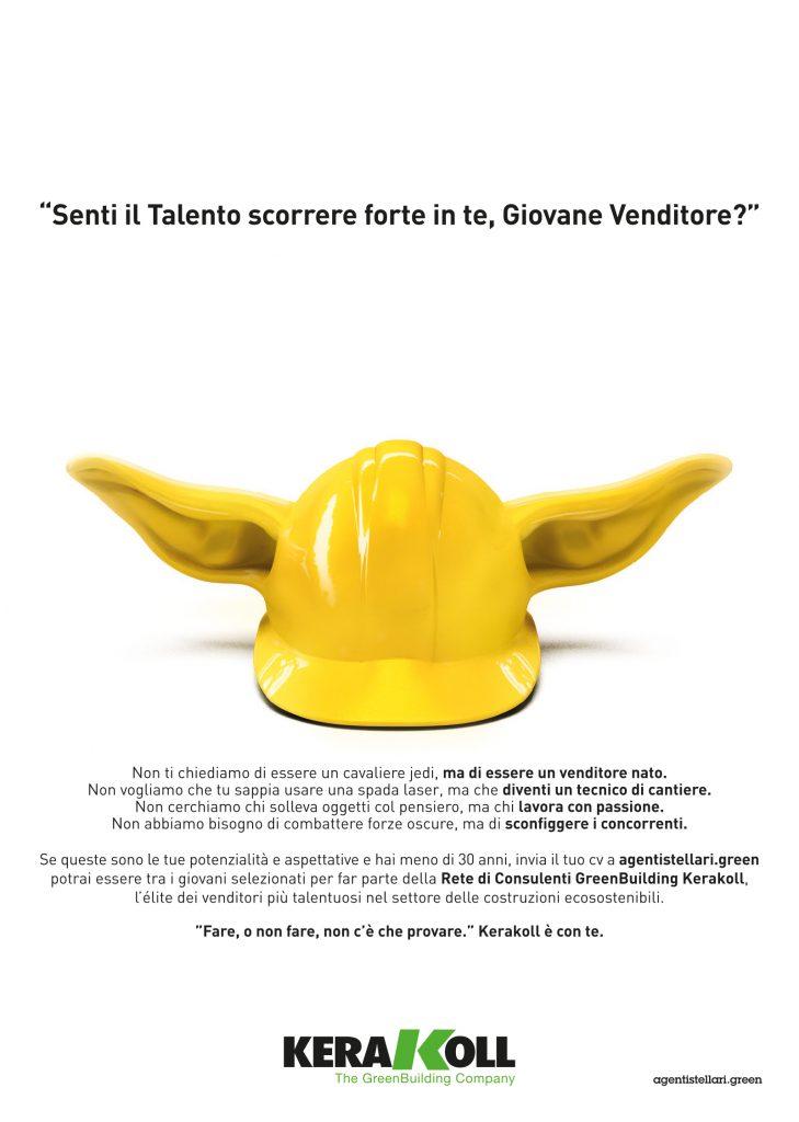 Menabò, agenzia di comunicazione a Forlì, per Kerakoll - Campagna ADV in italiano