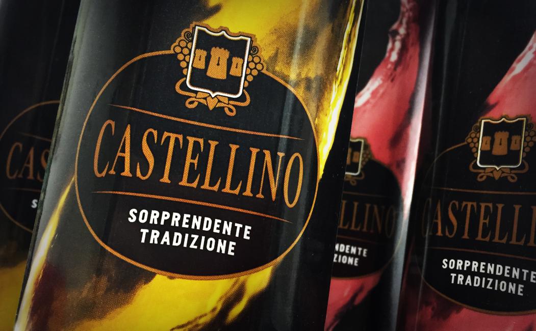 Castellino, restyling del logo e della livrea per il vino premium in Tetra brik®