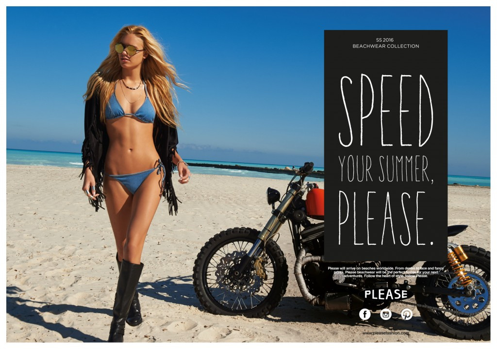Menabò, agenzia di comunicazione a Forlì, per la linea beachwear di Please - Campagna ADV
