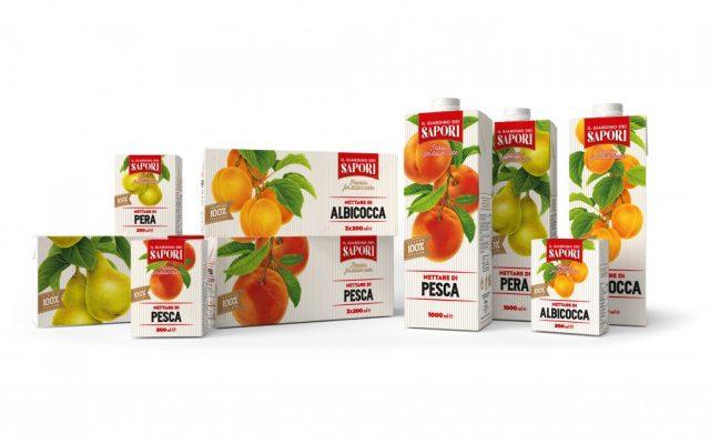 """Menabò, agenzia di comunicazione a Forlì, per la linea """"Giardino dei Sapori"""" di Fruttagel – Packaging linea completa"""