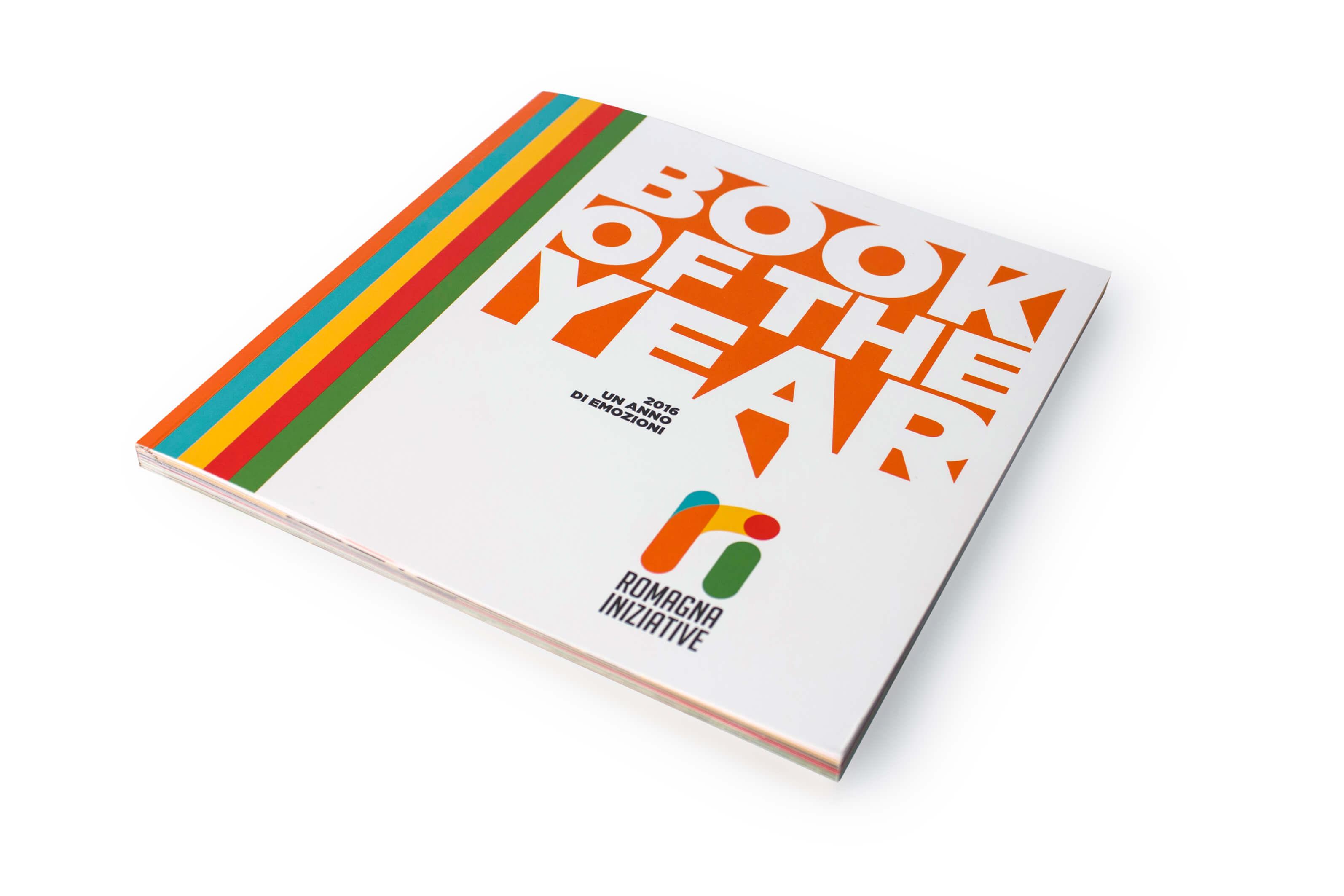 Menabò, agenzia di comunicazione a Forlì, per il Book of the Year 2016 di Romagna Iniziative - Copertina