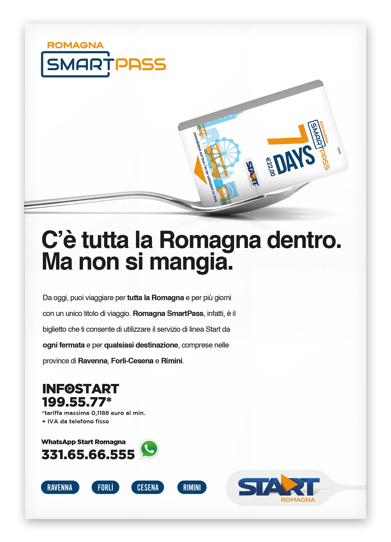 Menabò, agenzia di comunicazione a Forlì, per Smart Pass Romagna - Locandina