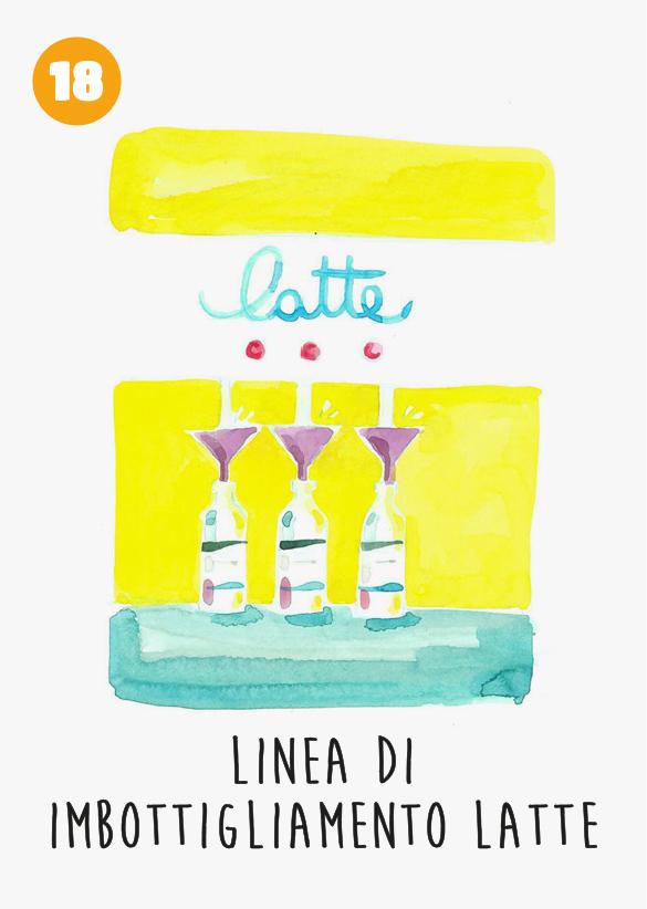 Menabò, agenzia di comunicazione a Forlì per TreValli Cooperlat in collaborazione con Alimos - Cartolatte illustrate