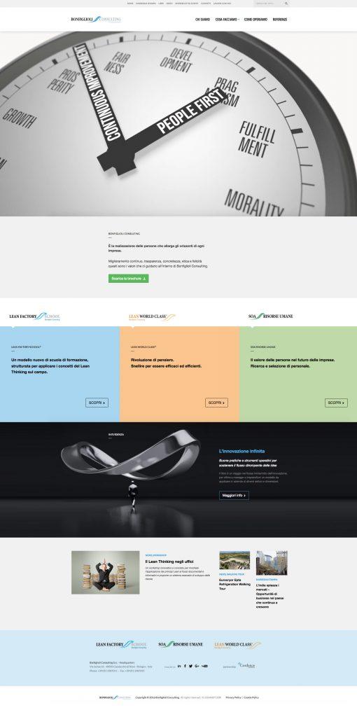 Menabò, agenzia di comunicazione a Forlì, per Bonfiglioli Consulting - Homepage sito