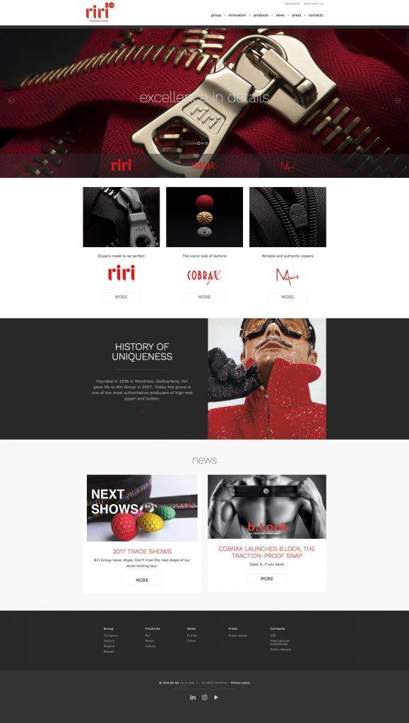 Menabò, agenzia di comunicazione a Forlì, per Riri Group - Home page sito