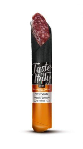 """Menabò, agenzia di comunicazione a Forlì, per la linea """"taste of Italy"""" di Veroni – Packaging salame Parma piccolo"""