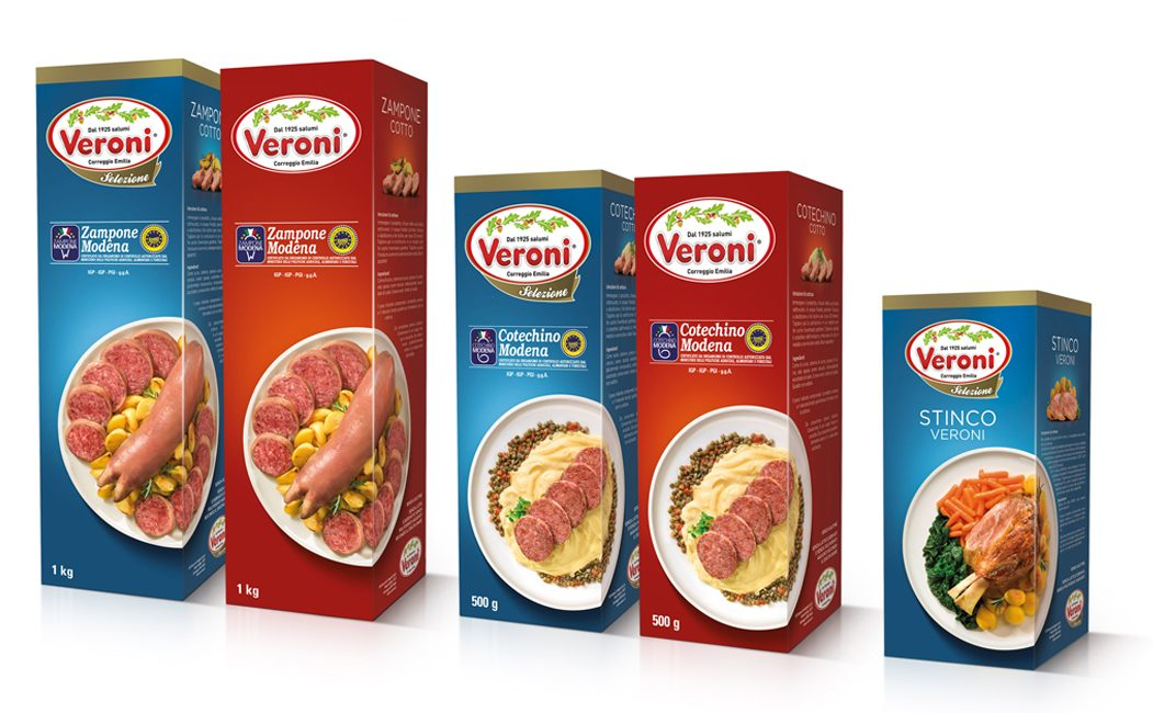 "Veroni's Christmas ""celebrates"" its new packaging with Menabò"