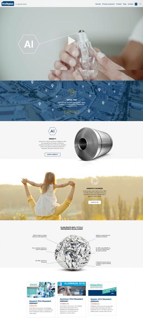 Menabò, agenzia di comunicazione a Forlì, per la Evergreen story di Profilglass - Home page nuovo sito