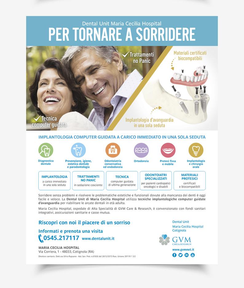 Menabò, agenzia di comunicazione a forlì, per la campagna della Dental Unit di GVM - Locandina