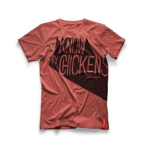 """Menabò, agenzia di comunicazione a Forlì, la linea Original Amadori –  T-shirt """"I know my chicken"""""""