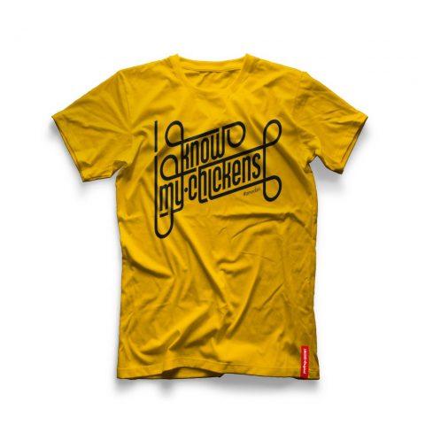 """Menabò, agenzia di comunicazione a Forlì, la linea Original Amadori – T-shirt """"I know my chicken"""" prima versione"""
