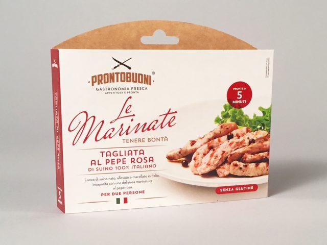 """Menabò, agenzia di comunicazione a Forlì, per """"le Marinate"""" di CEM - Packaging Tagliata al pepe rosa"""