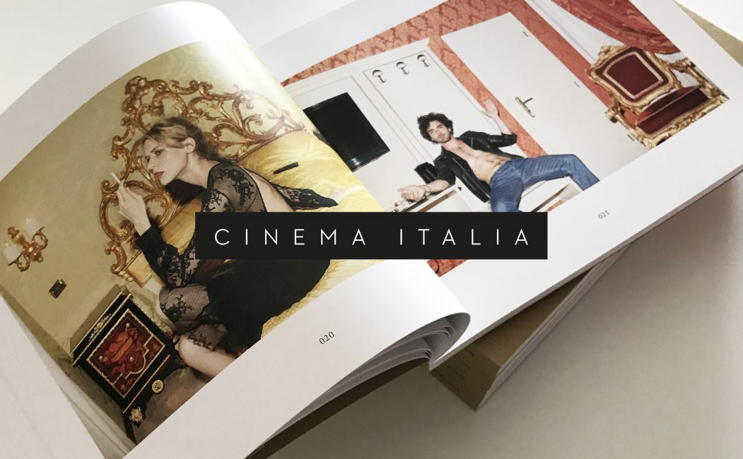 Cinema Italia A book featuring the best Italian cinema actors eternalized by the photographer Simon.