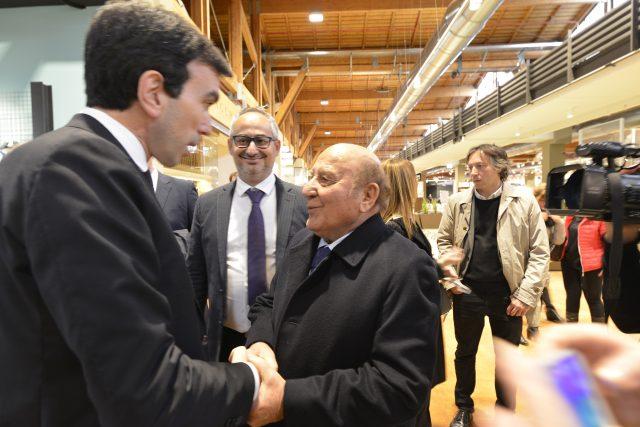 Francesco Amadori con il Ministro Martina