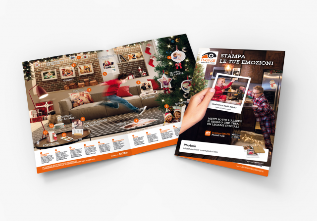 Menabò, agenzia di comunicazione a Forlì, per PhotoSì - Brochure della campagna di Natale
