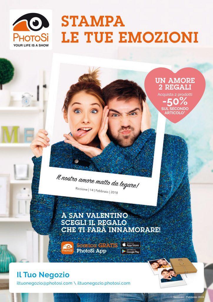 Menabò, agenzia di comunicazione a Forlì, per PhotoSì - Locandina campagna di San Valentino