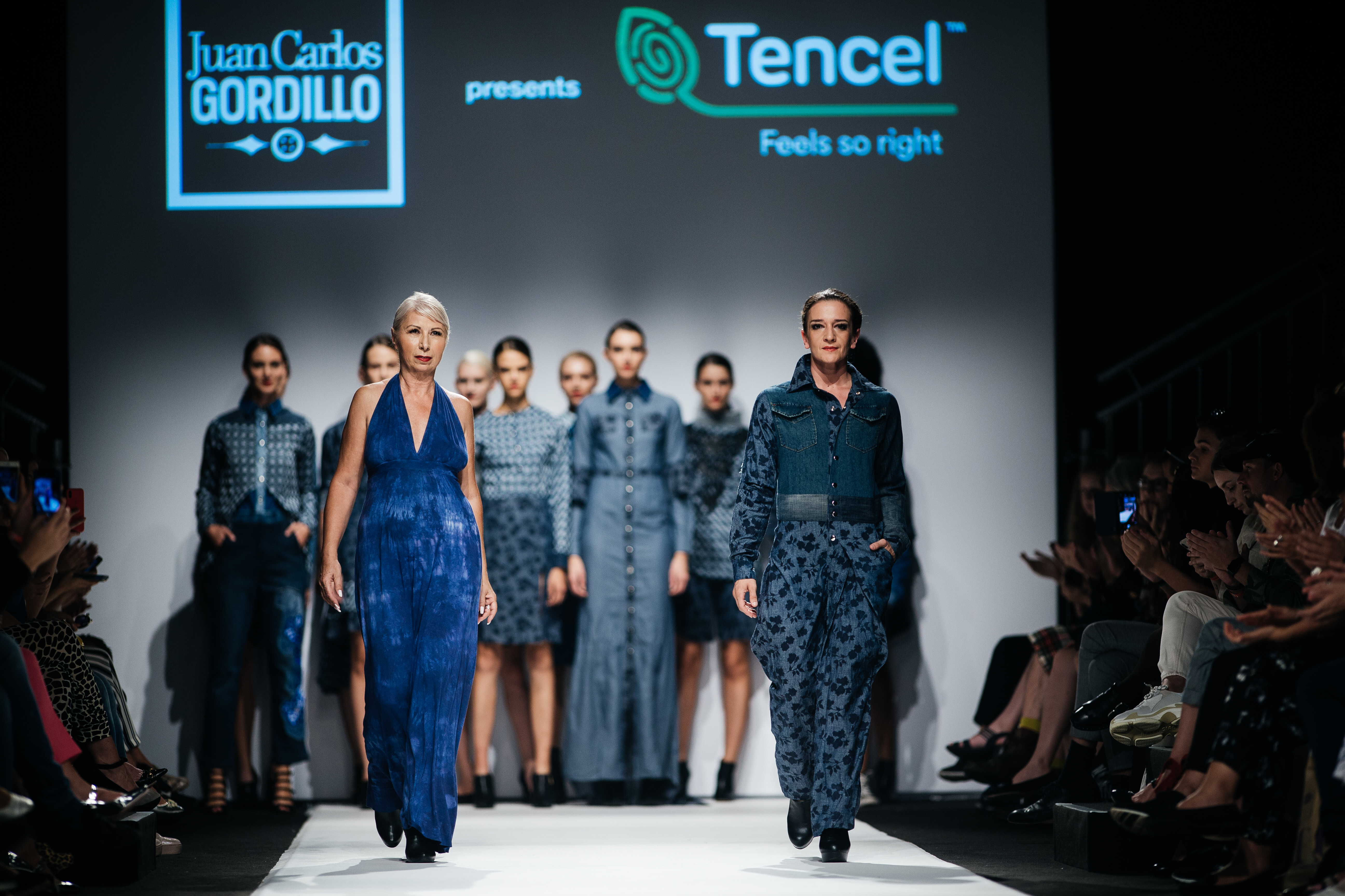 Menabò, communication agency in Forlì, for Juan Carlos Gordillo by TENCEL™ Denim - The end of the fashion show