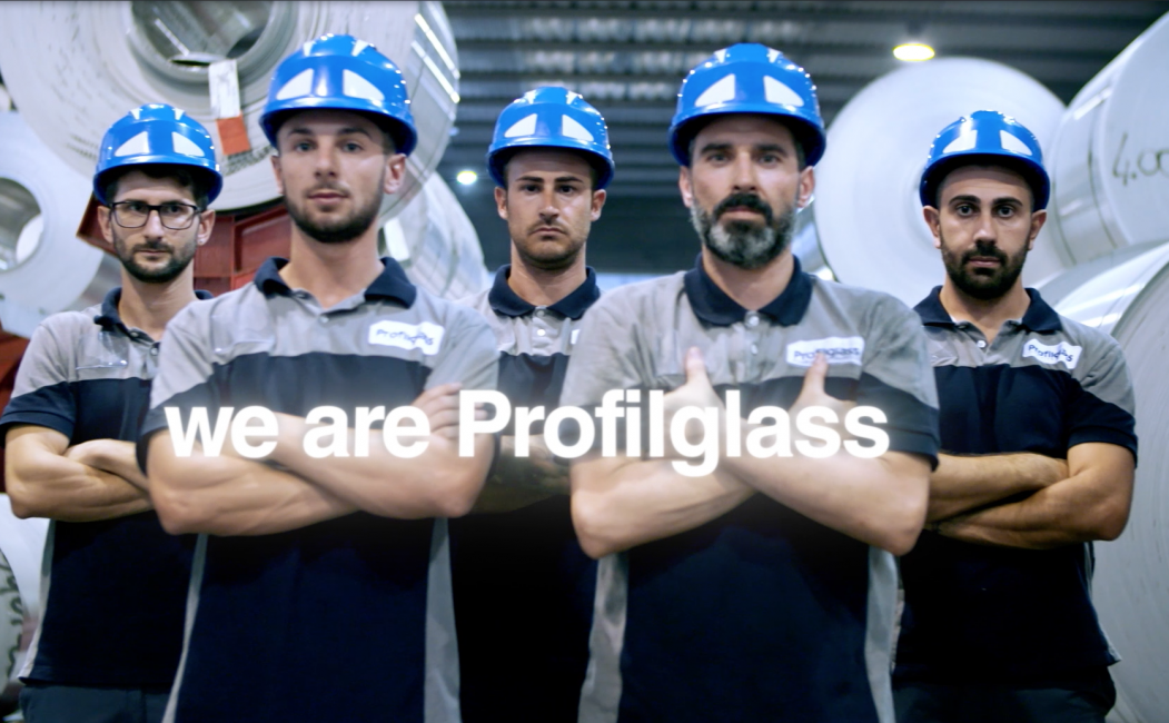 "The human factor is at the centre of the new institutional video presented at the Aluminium exhibition in Düsseldorf : ""We are Profilglass"""